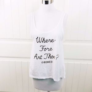 Abercrombie&Fitch White Metallic Logo Tank Top New